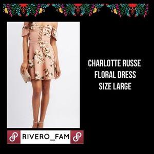 CHARLOTTE RUSSE | FLORAL OFF SHOULDER DRESS